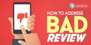 How to Address Bad Reviews