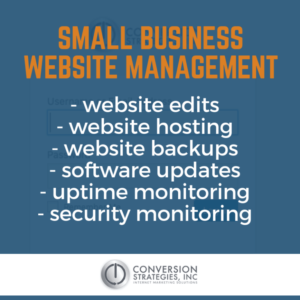 small business website management packages - Conversion Strategies Inc.